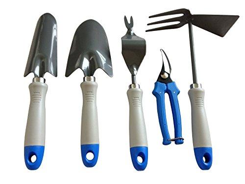 Gardening tools 5 piece garden tool set trowel for Garden trowels for sale