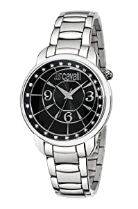 Just Cavalli Women's R7253178525 Trendy Silver Stainless-Steel band watch.