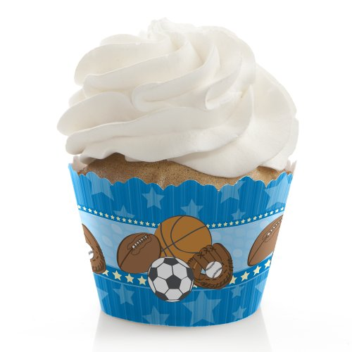 All Star Sports - Cupcake Stand & 13 Cupcake Wrappers front-151304
