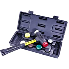 "Nupla SPI-156-S6 9 Piece Quick Change Impax Sledge Power Drive Set with Carrying Case, C Grip, 12.5"" Long Handle"