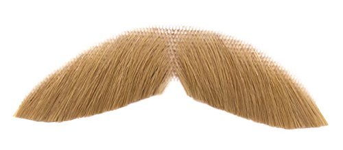 Loftus Real Human Hair Everyday Copstach Moustache, Blonde, One-Size - 1