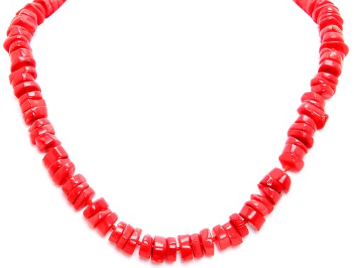 Royal Diamond Large Coral Chips Necklace