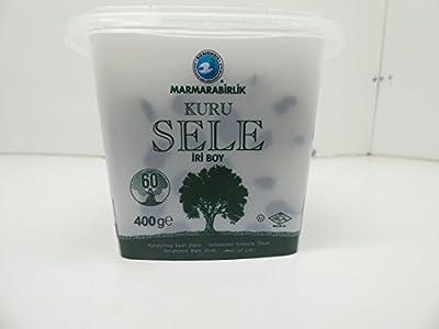 Marmarabirlik Exclusive Dried Sele Large Black Olives -14.1oz (Iri Kuru Sele Siyah Zeytin)