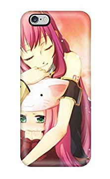 buy Flexible Tpu Back Case Cover For Iphone 6 Plus - Headphones Vocaloid Megurine Luka Pinkanime Detached Sleeves Vocaloid Fanmade Toeto Luka(3D Pc Soft Case)