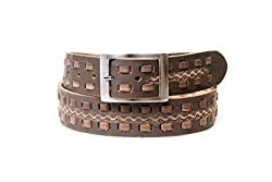 Thayla Men's Leather Belt (4504_Brown_42)