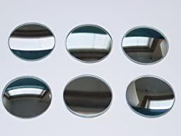 Glass Mirror Set 50mmD Concave and Convex - Set of 6