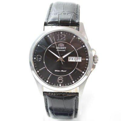 ORIENT Uhr Classic Automatik Herrenuhr Day Date Lederband black FEM7G003B9