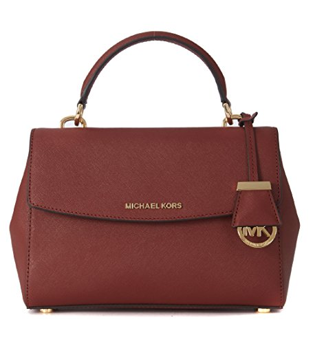 Michael-Michael-Kors-Ava-Small-Leather-Satchel-Red