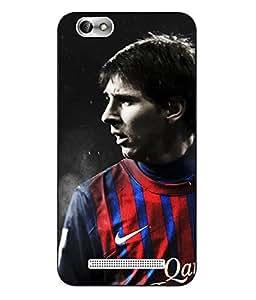 Make My Print Messi Printed Colorful Hard Back Cover For Lenovo Vibe C A2020