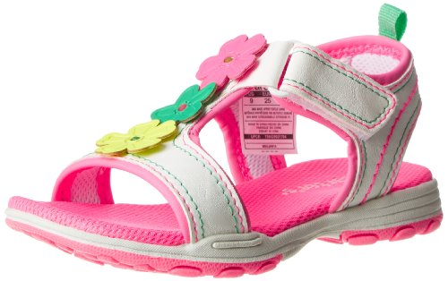 Carter'S Valenty Dress Sandal (Toddler/Little Kid/Big Kid),White/Neon Pink,9 M Us Toddler front-137774