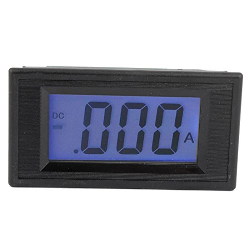Dc 80-500V 7 Segments Blue Lcd Display Current Tester Panel Ammeter