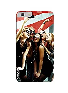 Omanm Five Girls Taking Selfie And Smiling Printed Designer Back Cover Case For Micromax Knight 2 E471
