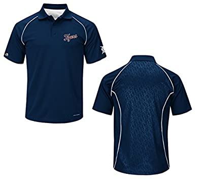Detroit Tigers Bases Loaded Navy Blue Cool Base Polo Shirt