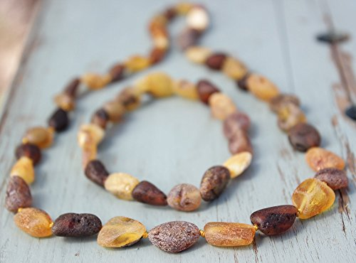 Set of Baltic Amber Adult Necklace 17.5'' and Elastic Bracelet 7'' - 1