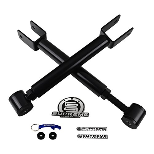 Supreme Suspensions - Cherokee XJ Front Adjustable Upper Control Arms High-Strength Carbon Steel Kit (Black) PRO (Jeep Xj Control Arms compare prices)