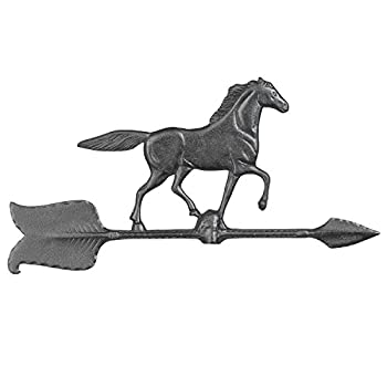 Whitehall Products Horse Accent Weathervane, 24-Inch, Black