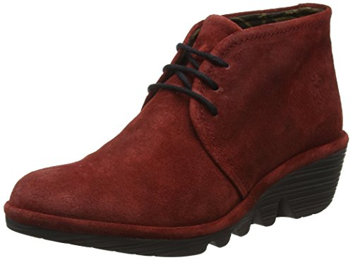Fly London Pert Stivaletti Desert Boots Donna, Rosso (Wine 048), 39 EU