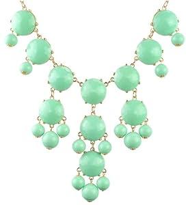 Mint Bubble Bib Necklace Bubble Necklace Bubble Jewelry Bib Necklace (Fn0508-F-Mint)