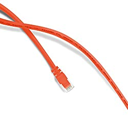 GearIt 20 Feet Cat 6 Ethernet Cable Cat6 Snagless Patch - Computer LAN Network Cord, Orange [Lifetime Warranty]