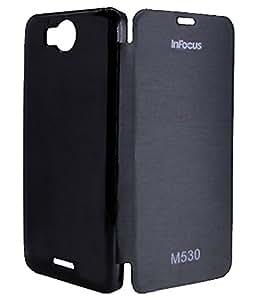 Royal Rusi - Black Flip cover , Stylus Pen For Infocus M 530
