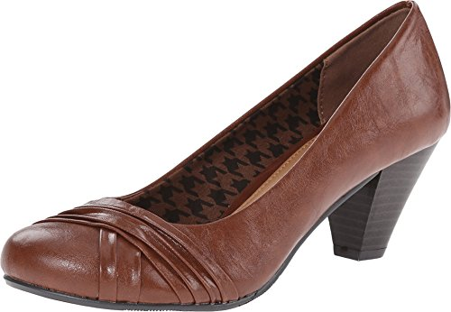 CL by Chinese Laundry Women's Sallie Smooth Dress Pump,Cognac,8.5