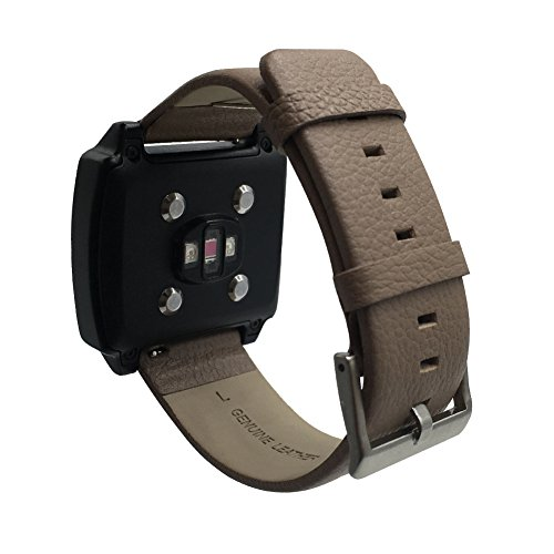EPYSN Genuine Leather Band Strap for Basis Peak Ultimate Fitness Replacement Watch Band Mist Grey (Basis Peak Strap compare prices)