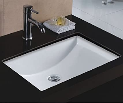 Cool Wells Sinkware Rectangular x Ceramic Undermount Bathroom Sink Vanity White