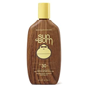 Sun Bum SPF 30 Water Resistant Sunscreen Lotion. Broad Spectrum UVA/UVB Protection. Paraben Free / PABA Free / Oil Free Gluten Free / 100% Vegan Hypoallergenic