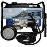 Westinghouse WH6000S Portable Generator with 25' Power Cord, 6000 Running Watts/7500 Starting Watts