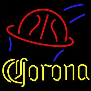 """Corona Basketball Beer Bar Pub Handcrafted Real Glass Tube Neon Light Sign 19"""" X 15"""" The Best Offer!"""