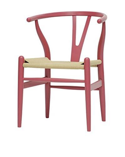 Baxton Studio Mid-Century Modern Wishbone Chair, Pink