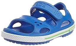 crocs Crocband II Sandal (Toddler/Little Kid/Big Kid), Sea Blue/White, 10 M US Toddler