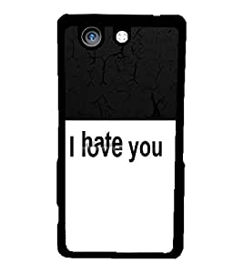 Fuson 2D Printed Love-Hate Designer back case cover for Sony Xperia Z4 Compact - D4289