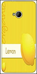 Snoogg Bright Organic Lemon Card In Vector Format Designer Protective Back Case Cover For HTC M7