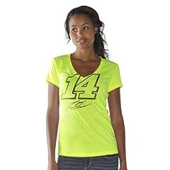 Nascar Tony Stewart Ladies Lightweight V-neck T-shirt by G-III by G-III Sports