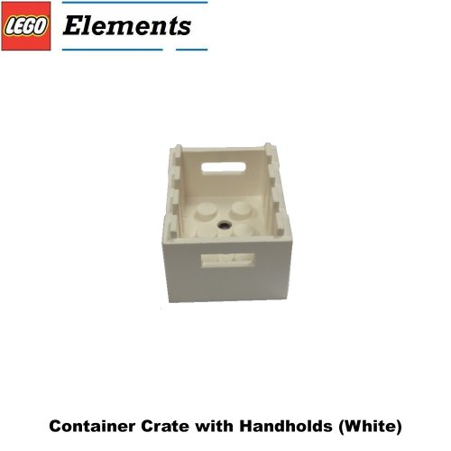 Lego Parts: Container Crate with Handholds (White) - 1