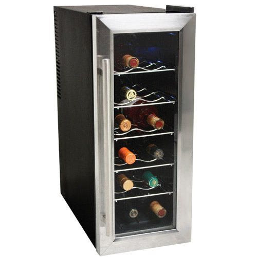EdgeStar 12 Bottle Slim-Fit Wine Cooler - Stainless Steel Trim Door