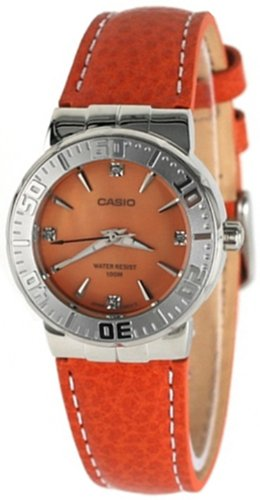 Casio Women's Core LTD2000L-4AV Orange Leather Quartz Watch with Orange Dial Reviews