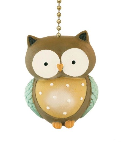 Little Hoot Owl Ceiling Fan Pull Light Chain-Home Decor (Ceiling Fans For Boys Rooms compare prices)