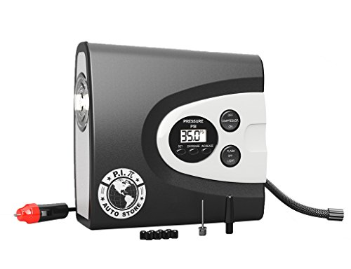 Digital Tire Inflator Best For Car, Sports, Inflatables & all Vehicles. Auto Shut Off Compressor Pump, Pressure Gauge, Torch and Extra Long Cord. 100% Manufacturers Lifetime Warranty. WITH CARRY BAG