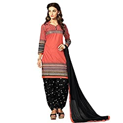 Yati Cotton Embroidered Patiala Salwar Suit Dupatta Material