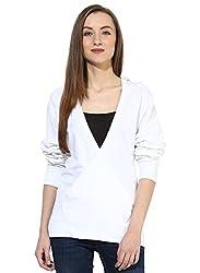 GRAIN White Regular fit Solid Plain Autumn Cotton Jackets for Women