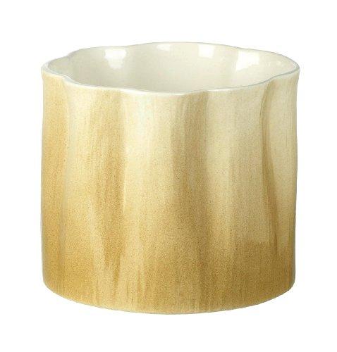 Unusual Ceramic Taupe Verdure Planter / Plant Pot H180 x 200mm Brown