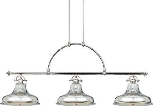 Quoizel ER353IS Emery 73-Inch Island Chandelier with 3-Lights, Imperial Silver