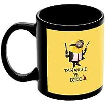 "Raksha Bandhan Gift For Brother Or Sisters ""Taanche Pe Disco Minion"" Printed Black Ceramic Mug"