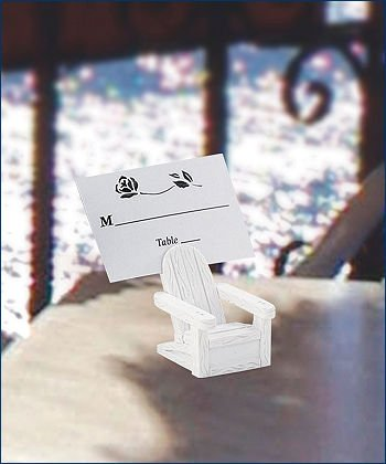 White ADIRONDACK CHAIR placecard holders