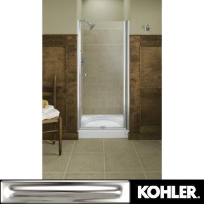 Kohler k 702406 l sh fluence frameless pivot shower door for Discount frameless shower doors