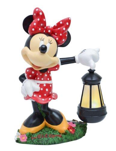 Woods International Disney Garden LED Statue, 12.5-Inch, Minnie Mouse