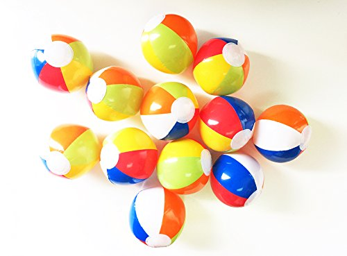 "Learn More About GIFTEXPRESSTM 24 Pcs 6"" Mini Inflatable Rainbow Multicolor Beach Ball"