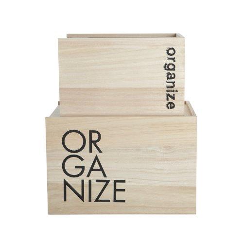 Aufbewahrungsbox Holz 2er Set